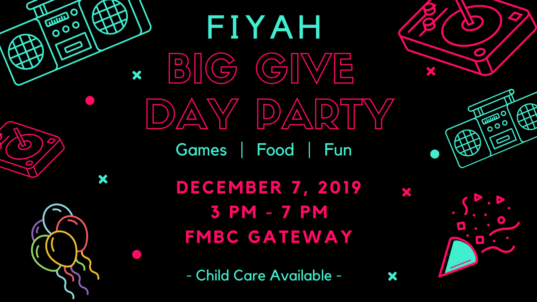 FIYAH Big Give Day Party