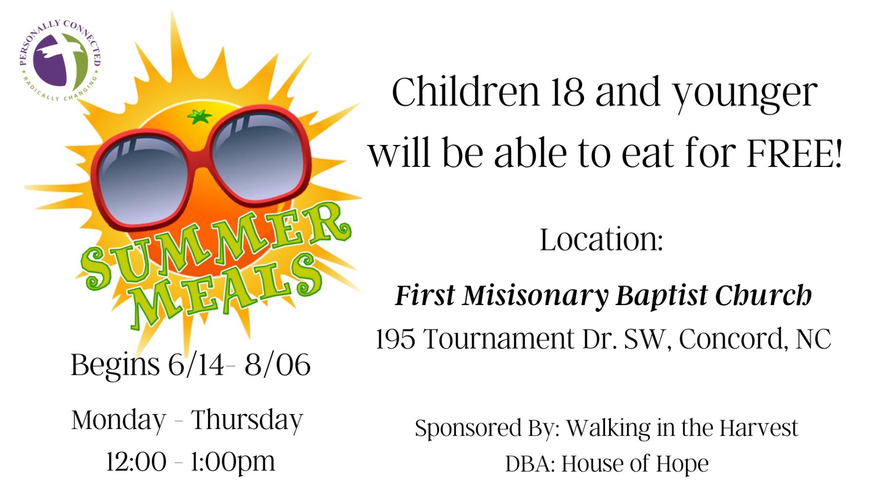 Summer Feeding Meal Program